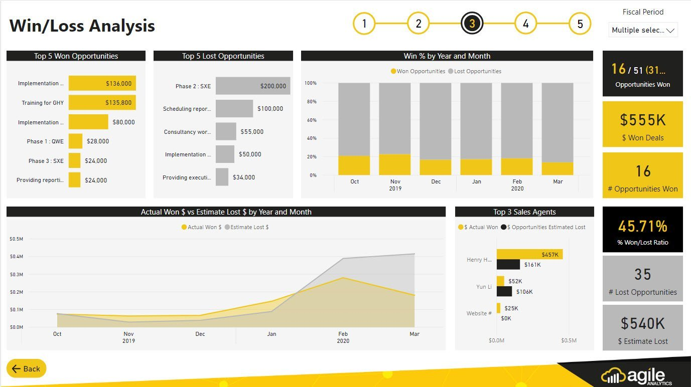 CRM Analytics - Power BI Dynamics 365