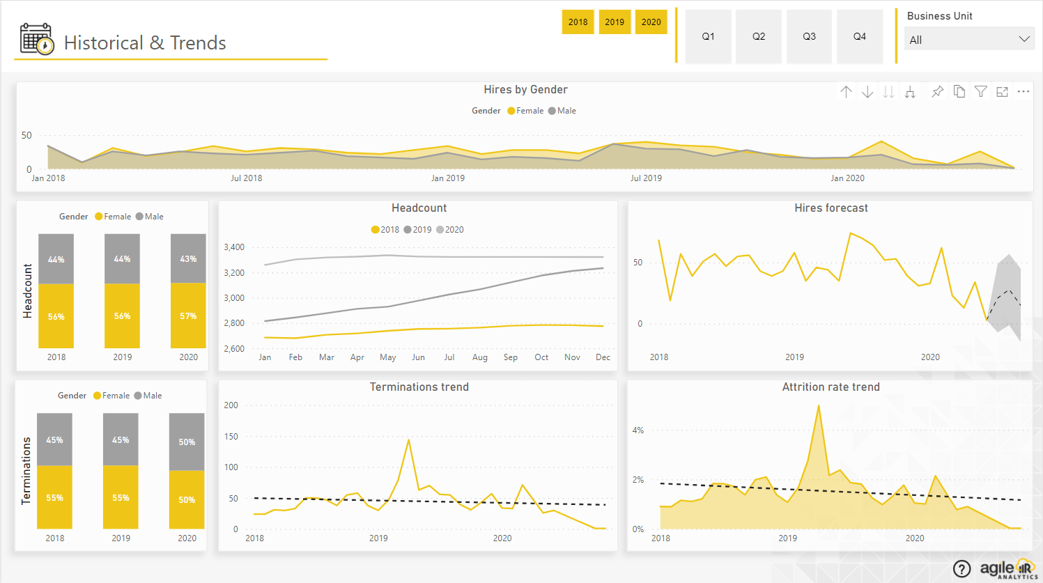 Agile HR Analytics - Historical and Trends