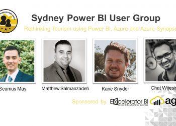 Sydney Power BI User Group – August 2021 – Rethinking Tourism using Power BI, Azure Data Platform and Synapse